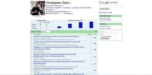 Google Scholar citation profile