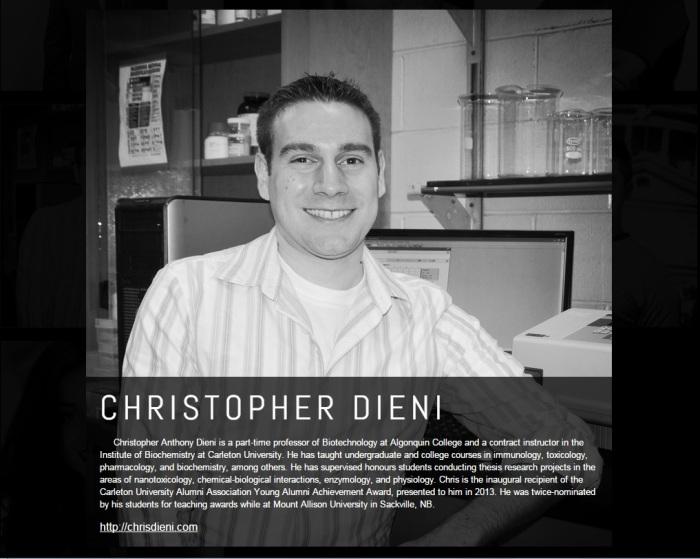 Chris Dieni TEDxCarletonU speaker bio